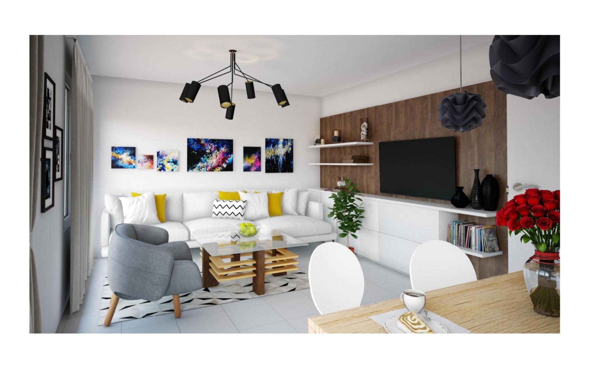 T3 Neuf Ajaccio Mezzavia Les Terrasses du Stiletto - Salon