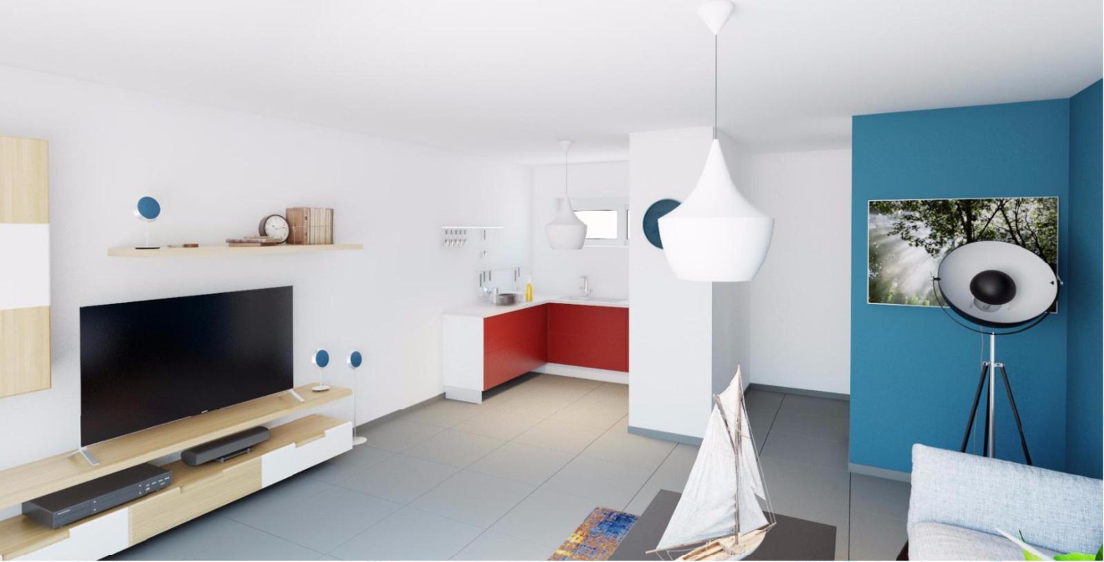 La residence du fort porticcio Cuisine T3  appartement programme neuf