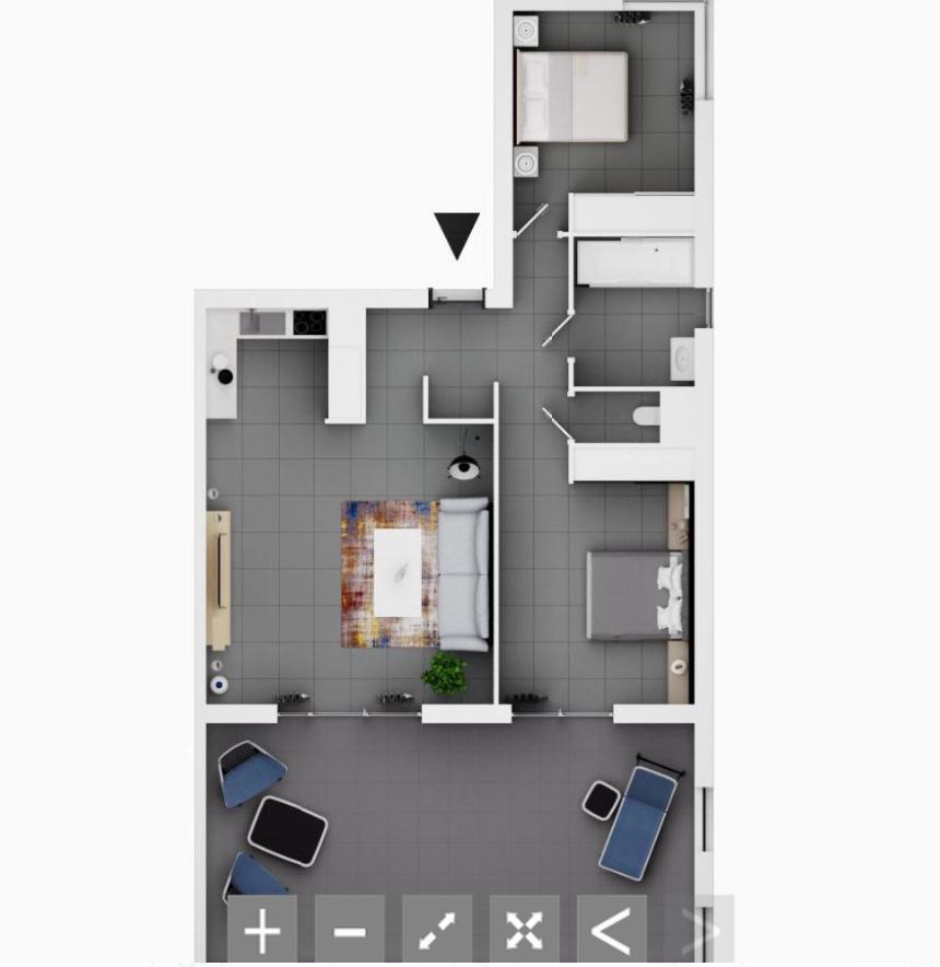 La residence du fort porticcio plan 3D   appartement programme neuf
