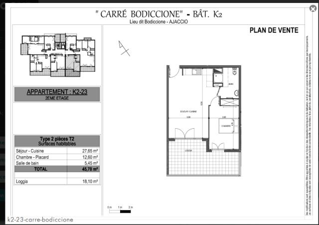 Appartement T2 Ajaccio