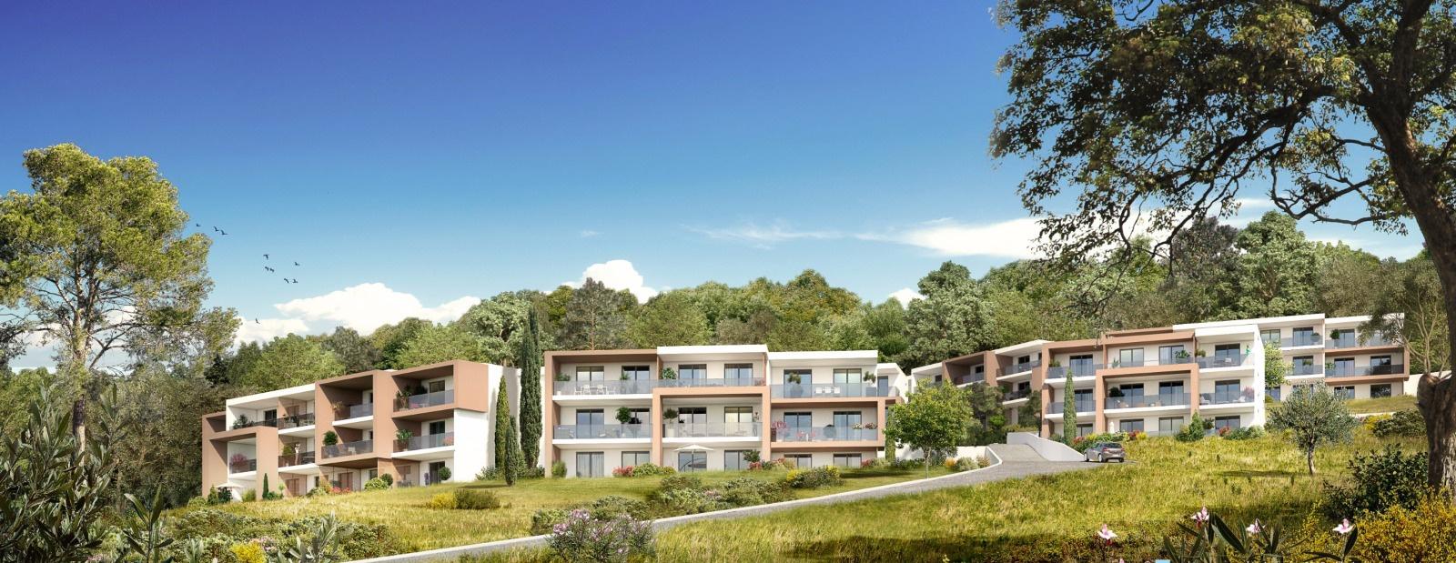 Les rivages de stagnola Porticcio T2 appartement immeuble