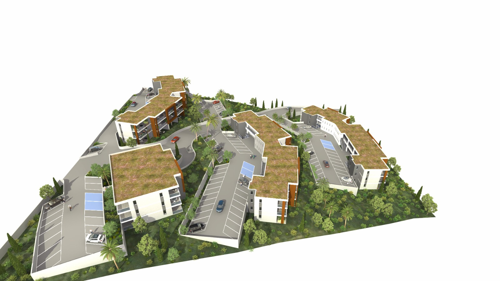 Les rivages de stagnola Porticcio T2 3D maquette