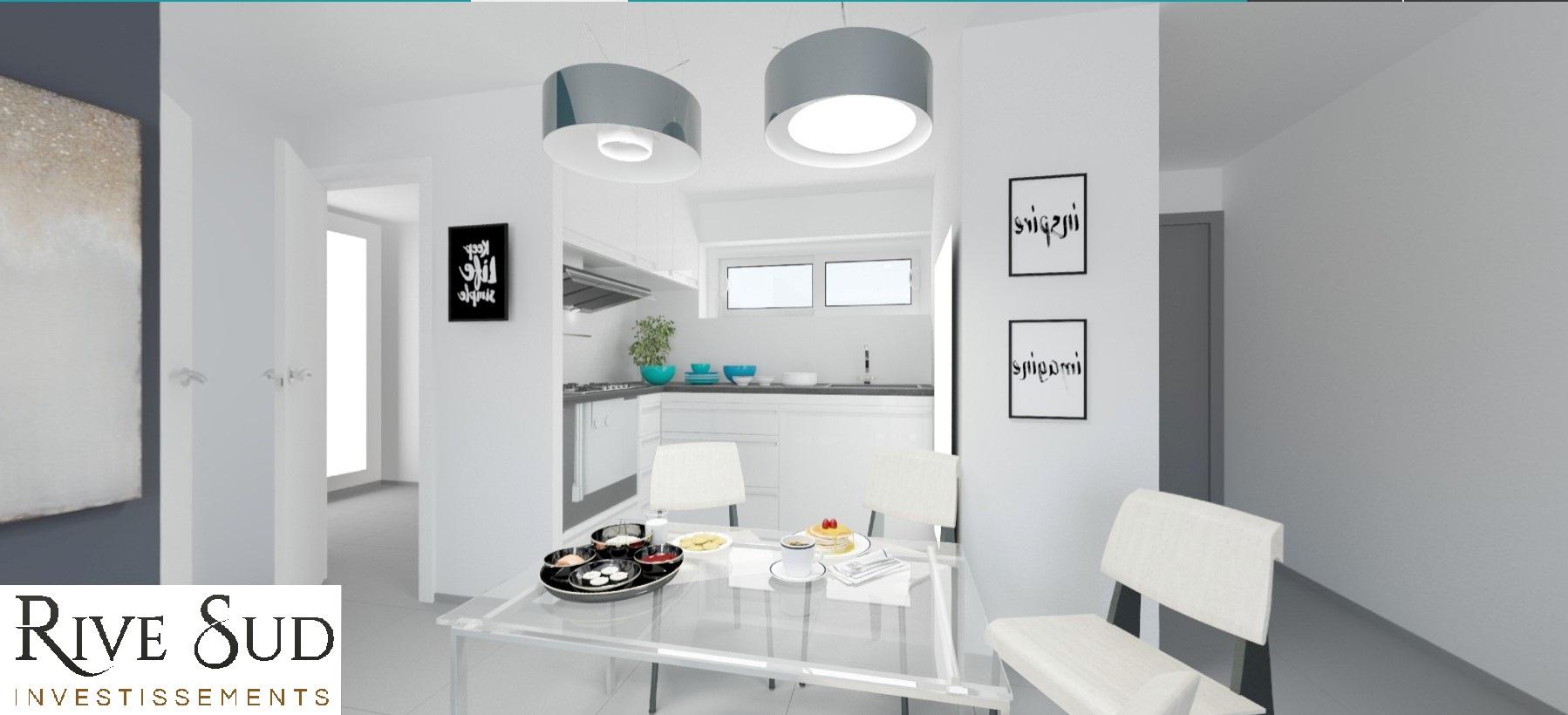 La residence du fort cuisine appartement T2 programme neuf
