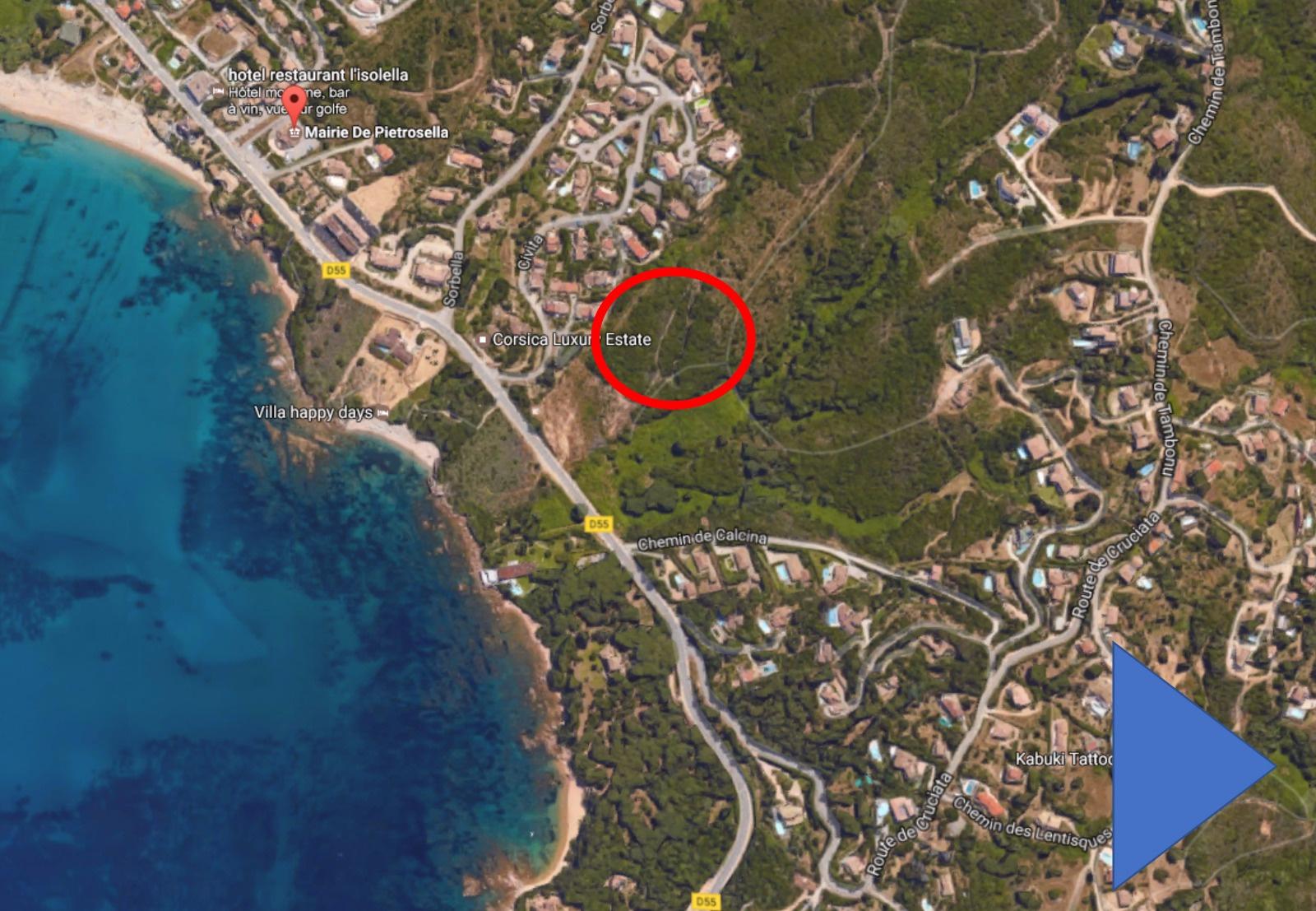 Les rivages de la Stagnola Programme neuf Porticcio - localisation