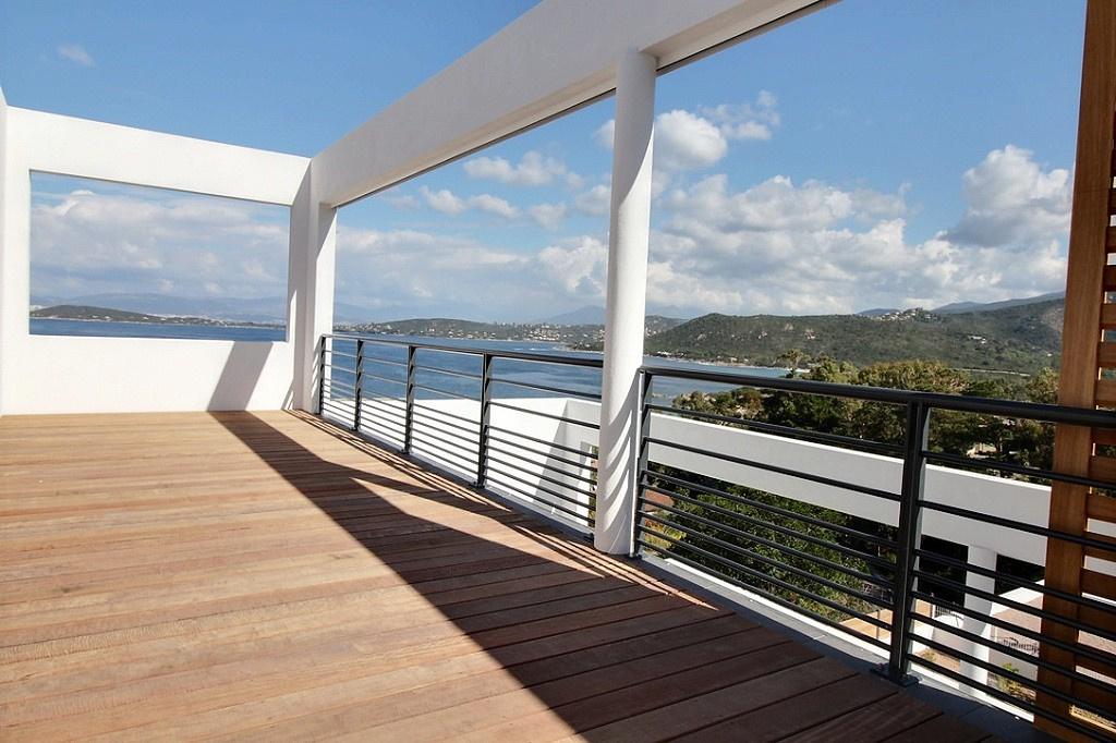 Toit terrasse porticcio vue mer